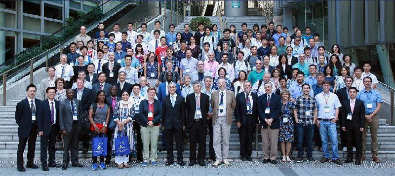 香港天文台台長岑智明(第一排左七)今日(七月二十五日)出席世界氣象組織「世界天氣研究計劃第四屆國際臨近預報及超短期預報專題研討會」,並與其他參加者合照。