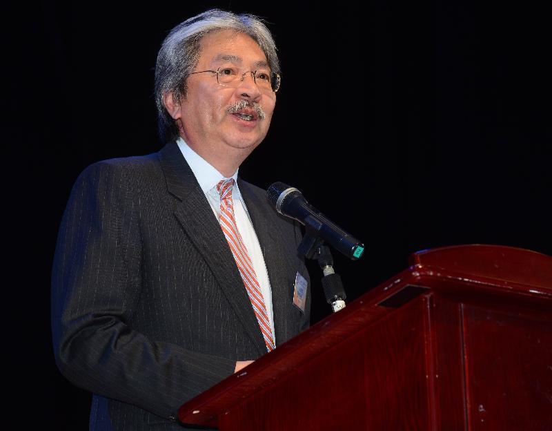 財政司司長曾俊華今日(八月二十六日)晚上出席第三屆香港國際音樂節閉幕典禮,並在典禮上致辭。