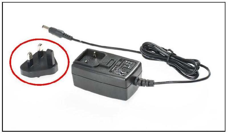 機電工程署今日(九月二十一日)呼籲市民停用美德牌Swing Maxi, Swing和Freestyle三款奶泵的可拆式電源插頭。圖示該可拆式電源插頭(紅圈中)和電源供應座。