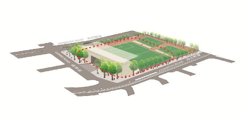 「城市地下空間發展:策略性地區先導研究」第一階段公眾參與活動今日(十一月七日)展開,收集公眾對發展地下空間的意見。位於灣仔中心點的修頓球場具備發展地下空間的潛力。