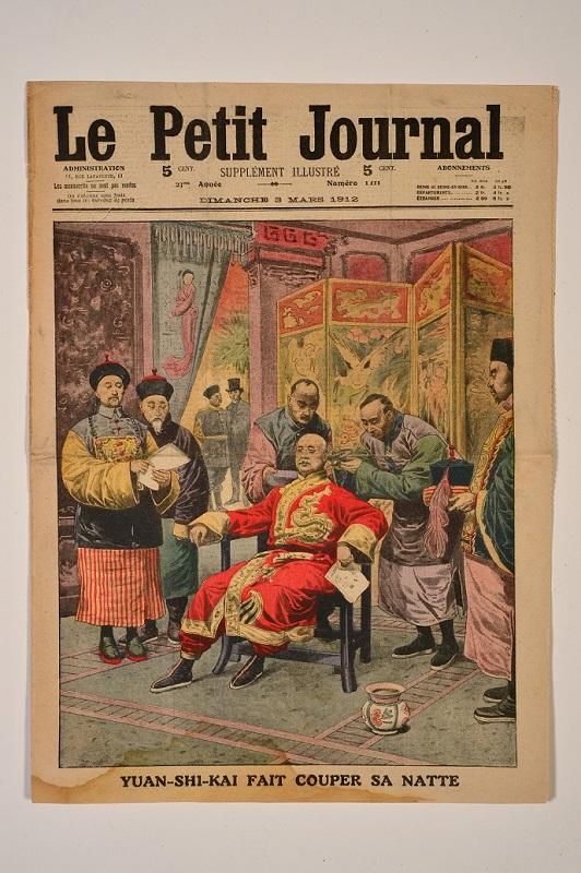 「趣看孫中山及其時代」展覽今日(十一月十二日)至十二月五日在香港歷史博物館舉行,展出兩份描繪辛亥革命結果的法國畫報。