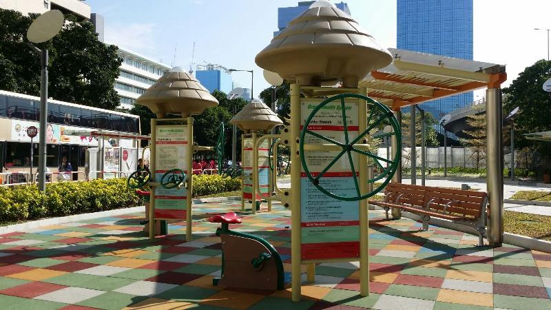 宏光道休憩處今日(十二月三十日)正式啟用,場內設有長者健體園地。