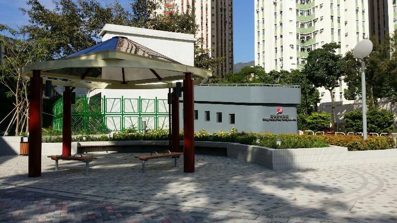宏光道休憩處今日(十二月三十日)正式啟用,場內設有涼亭供市民閒坐歇息。