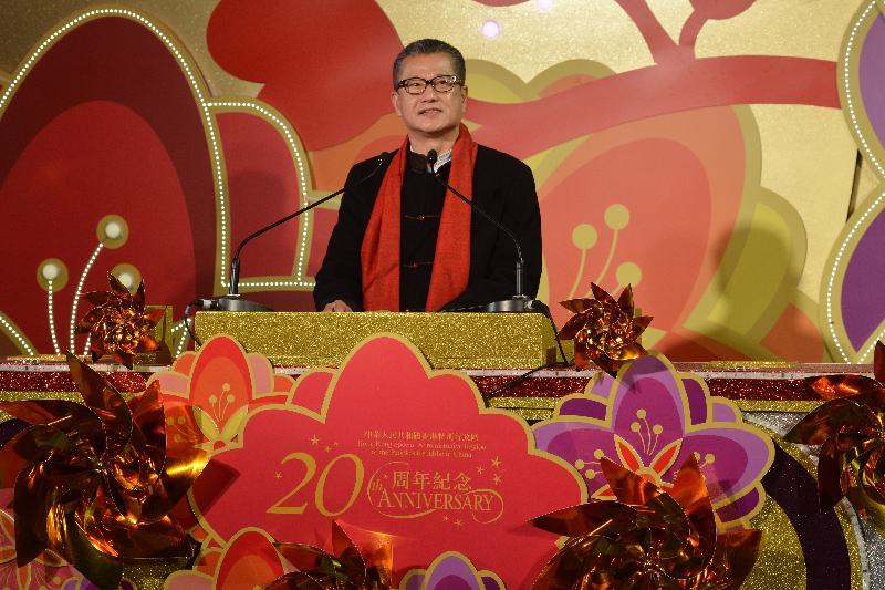 財政司司長陳茂波今晚(一月二十八日)出席在尖沙咀香港文化中心廣場舉行的「2017國泰航空新春國際匯演之夜」,並在開幕禮上致辭。