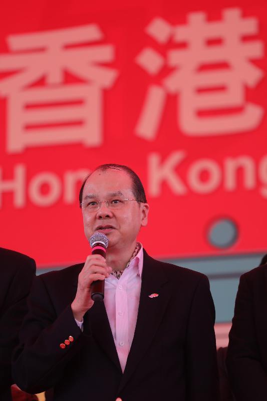 政務司司長張建宗今日(一月二十八日)在大埔林村出席香港許願節2017,並致新年賀辭。