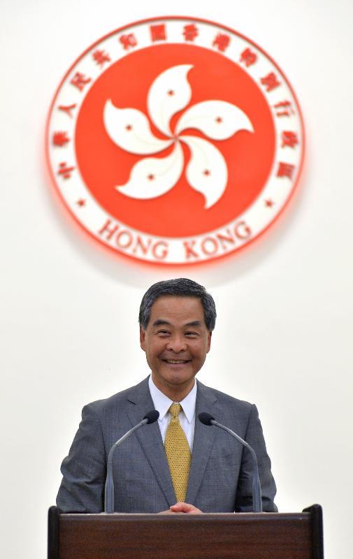 行政長官梁振英今日(二月八日)邀請社會不同界別人士到禮賓府共慶新春,並在新春酒會上致辭。