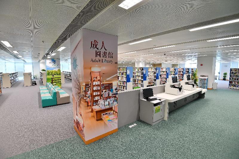 圓洲角公共圖書館明日(三月三十日)起開放予市民使用。新圖書館的館藏約十六萬項,涵蓋成人和兒童中、英文書籍,以及鐳射唱片等。