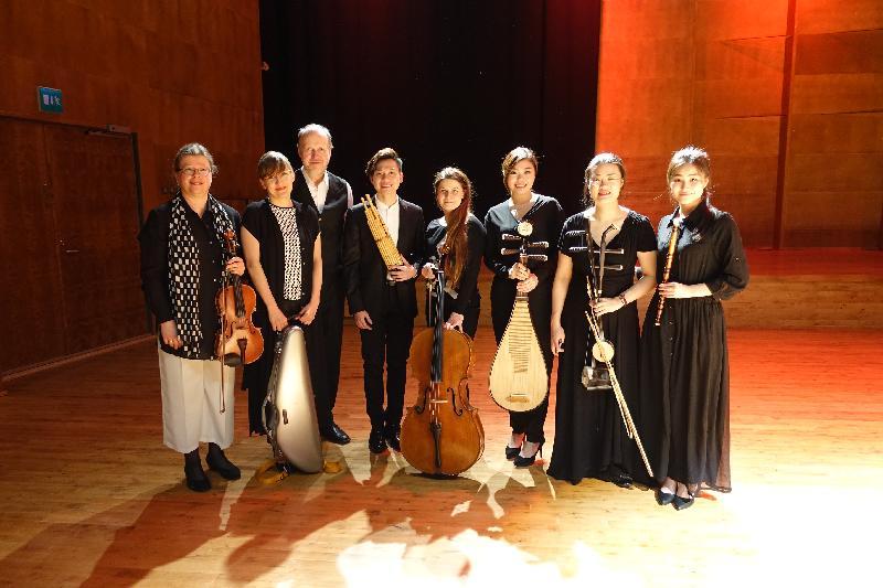 Tapiola Sinfonietta弦樂四重奏樂隊及由香港演藝學院四位音樂家組成的中樂小組在四月六日(芬蘭時間)的高勵寧音樂會上演出。