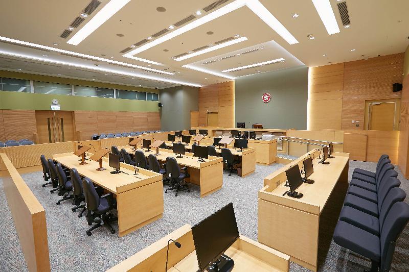 終審法院首席法官馬道立今日(五月十二日)為西九龍法院大樓主持啟用典禮。圖為死因裁判法庭。