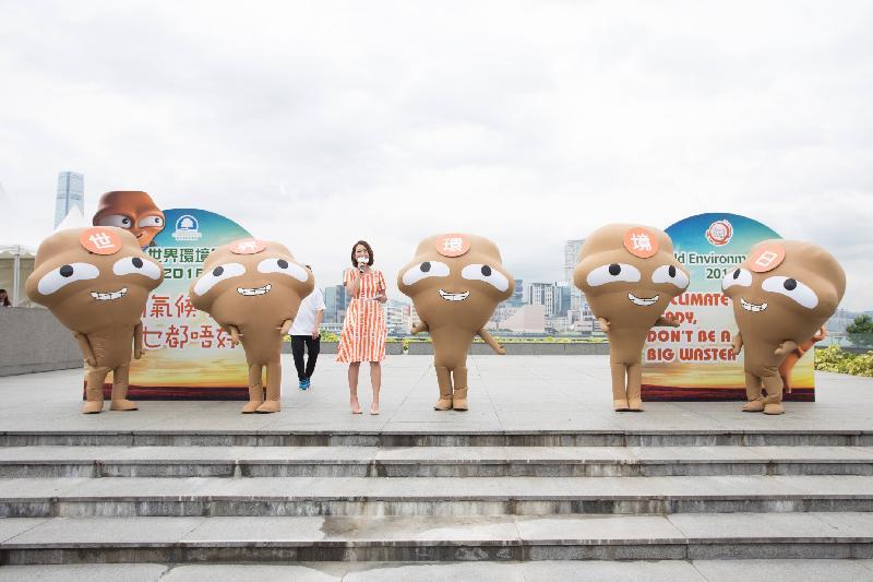 「世界環境日2017—零碳FUN墟」於六月十一日(星期日)上午十一時至下午五時在九龍灣零碳天地及「綠在觀塘」舉行。圖示「世界環境日2016」的舞台表演。