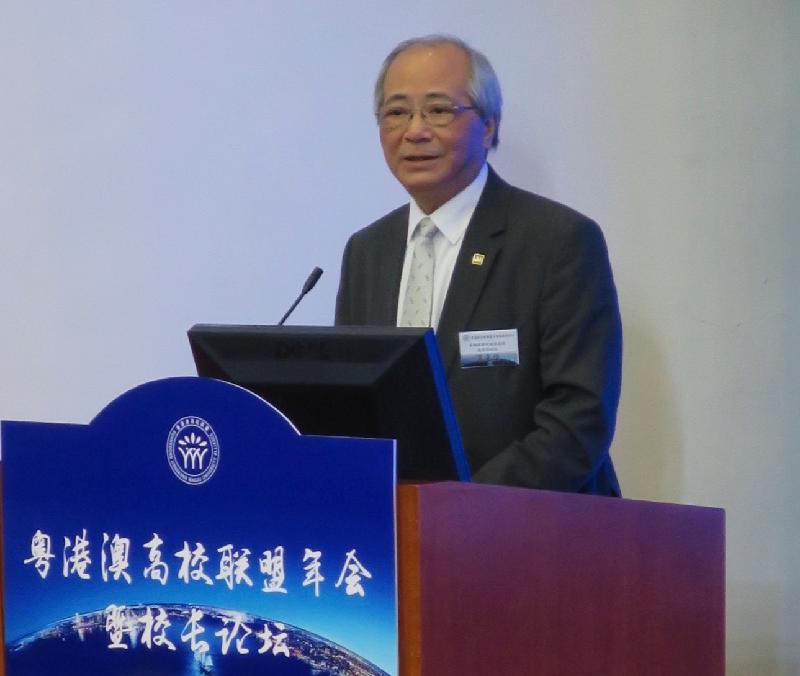 教育局局長吳克儉今日(六月六日)在深圳舉行的粵港澳高校聯盟年會暨校長論壇上致開幕辭。