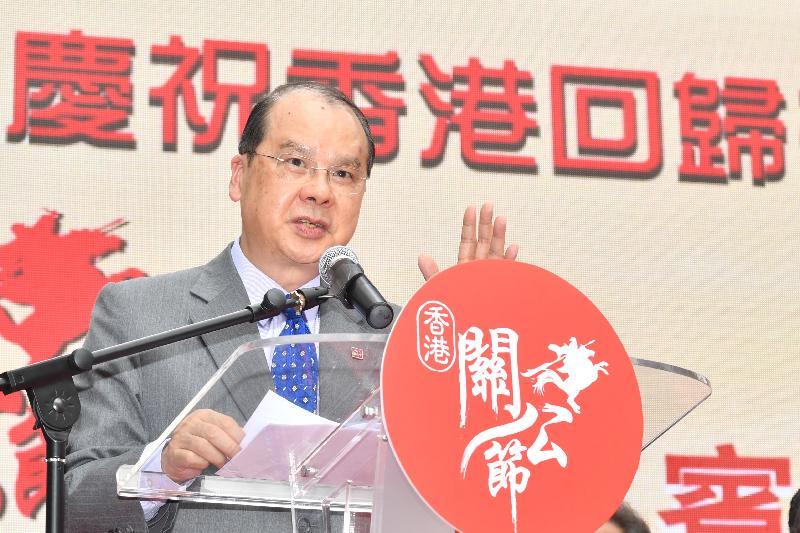 政務司司長張建宗今日(六月二十四日)於香港關公節開幕典禮上致辭。