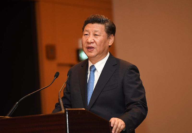 國家主席習近平今日(六月二十九日)下午在行政長官梁振英陪同下會見行政、立法及司法機構負責人,並發表講話。