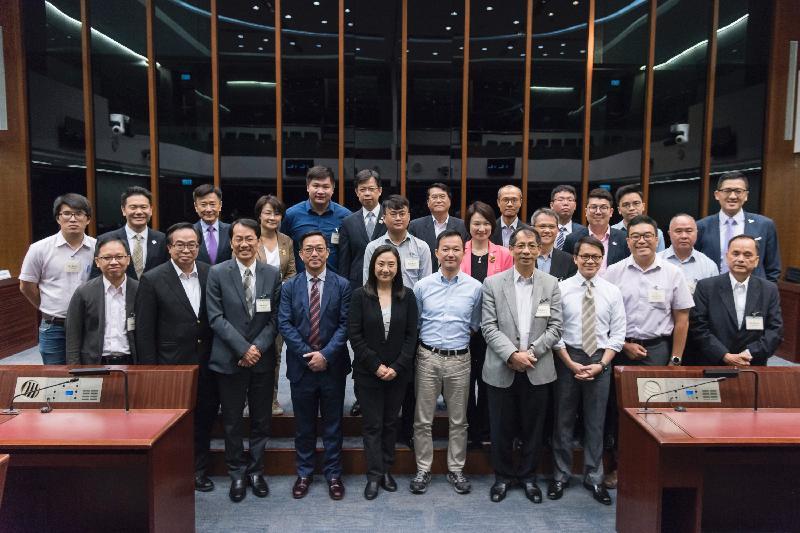 立法會議員與西貢區議會議員今日(七月七日)在立法會綜合大樓舉行會議後合照。