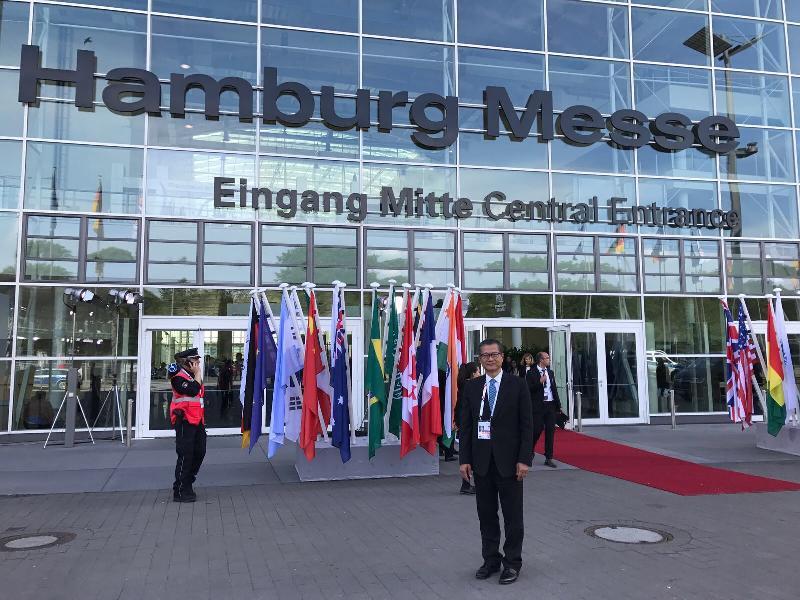 財政司司長陳茂波今日(漢堡時間七月七日)在德國漢堡出席二十國集團領導人峰會。