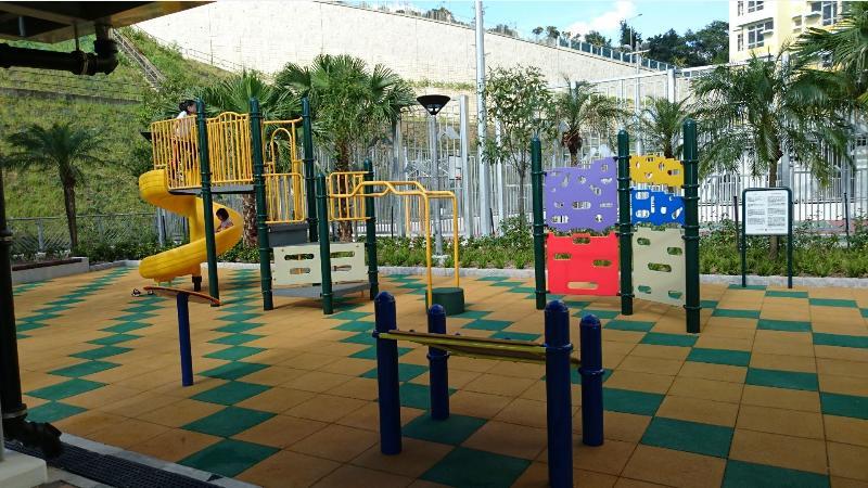 安泰邨內的室外兒童遊樂區現已開放予居民使用。