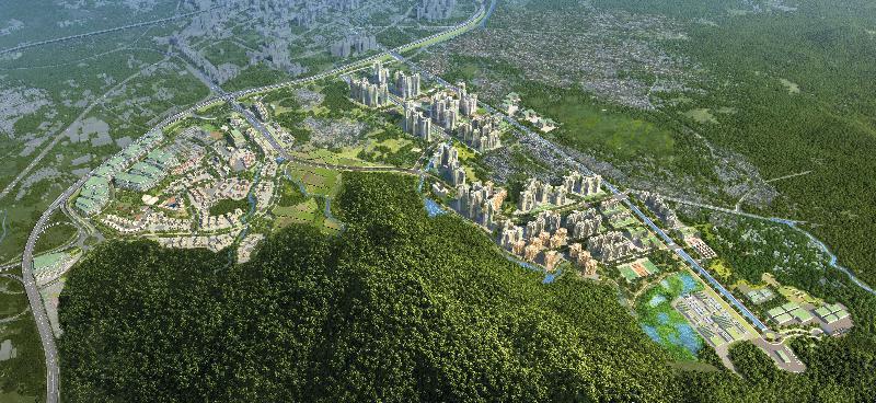 規劃署和土木工程拓展署今日(八月八日)公布「元朗南建議發展大綱圖」。元朗南的規劃願景是建立一個可持續發展、綠色及宜居的社區,提升基礎設施配合未來發展及改善現有環境。