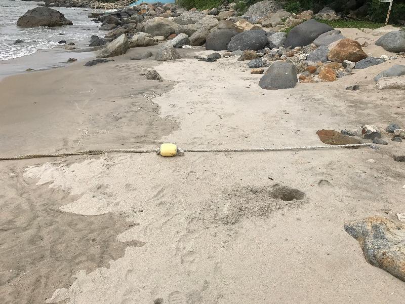 大嶼山上長沙泳灘經清理後,已於今日(八月十一日)下午重開。