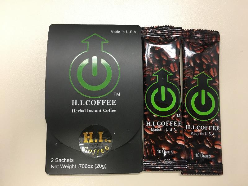 衞生署今日(八月十七日)呼籲市民,切勿購買或服用一種名為「H.I. COFFEE」的產品,因該產品被發現含有未標示的受管制成分。