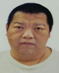He is about 1.62 metres tall, 68 kilograms in weight and of fat build. He has a round face with yellow complexion and short straight black hair. He was last seen wearing a yellow short-sleeved T-shirt, grey trousers and white sports shoes.