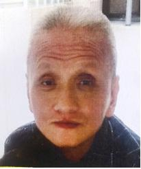 He is about 1.71 metres tall, 59 kilograms in weight and of thin build. He has a pointed face with yellow complexion and short white straight hair. He was last seen wearing a white short-sleeved shirt, white trousers, black canvas shoes and carrying a black bag.