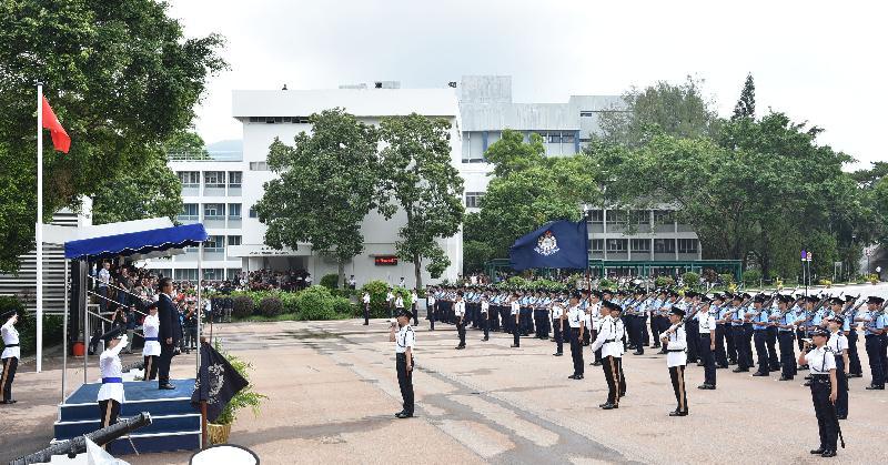 香港機場管理局主席蘇澤光今日(九月二十三日)出席香港警察學院舉行的結業會操。