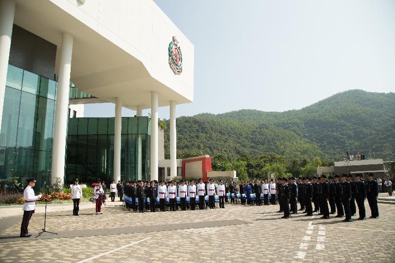 消防處今日(十月二十六日)在消防及救護學院舉行「消防處紀念日」儀式,悼念在執行職務期間殉職的消防處人員。