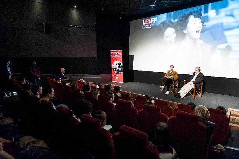 倫敦東亞電影節2017於十月二十一日(倫敦時間)於倫敦選映《七月與安生》,導演曾國祥(左)在放映會後與觀眾交流。香港駐倫敦經濟貿易辦事處為該電影節的支持機構。