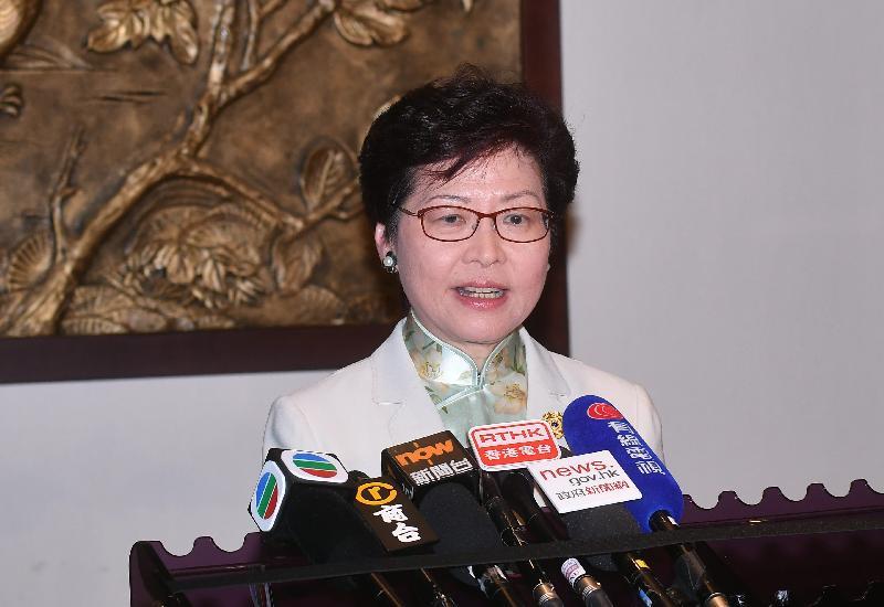行政長官林鄭月娥今日(十一月十一日)下午在越南峴港出席亞太區經濟合作組織經濟領導人非正式會議後會見傳媒。