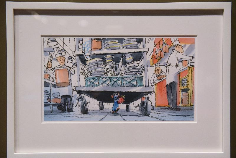 「彼思動畫30年:家+友‧加油!」展覽開幕典禮今日(十一月十七日)在香港文化博物館舉行。圖示《五星級大鼠》(2007)數碼繪圖。