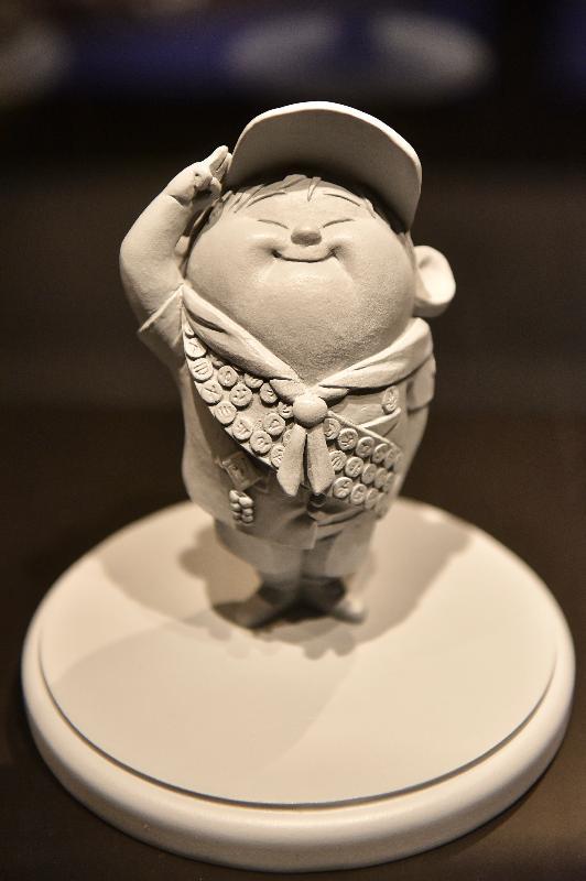 「彼思動畫30年:家+友‧加油!」展覽開幕典禮今日(十一月十七日)在香港文化博物館舉行。圖示《沖天救兵》(2009)中的小飛模型。