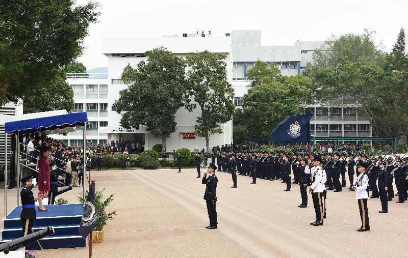 行政長官林鄭月娥今日(十一月二十五日)出席香港警察學院舉行的結業會操。