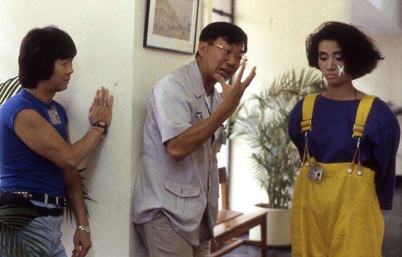 香港電影資料館(資料館)一月底推出新一輯的「影談系列」,邀請集編劇、導演、演員及監製於一身的陳欣健,挑選四部由他編導的作品在資料館電影院放映。圖為《神探朱古力》(1986)劇照。