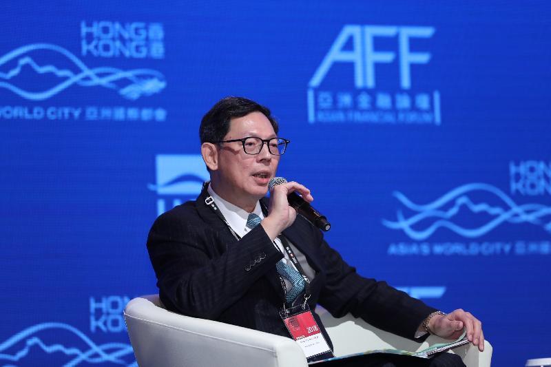 香港金融管理局總裁陳德霖今日(一月十五日)於亞洲金融論壇2018主持一場題為「中國政策對全球經濟發展的影響」的政策對話。