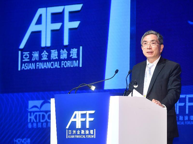 財經事務及庫務局局長劉怡翔今日上午(一月十五日)在香港會議展覽中心出席第十一屆亞洲金融論壇的主題演講環節「引領增長 啟發創新:放眼亞洲至全球」,並在環節上發言。該環節探討如何在全球利用創新和科技來創造價值和推動變革。