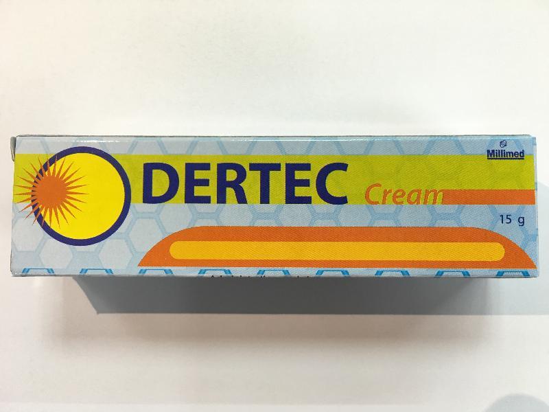 衞生署今日(三月八日)同意持牌藥物批發商必成(香港)有限公司因品質問題,從市面回收所有批次的Dertec Cream(註冊編號:HK-62290)。