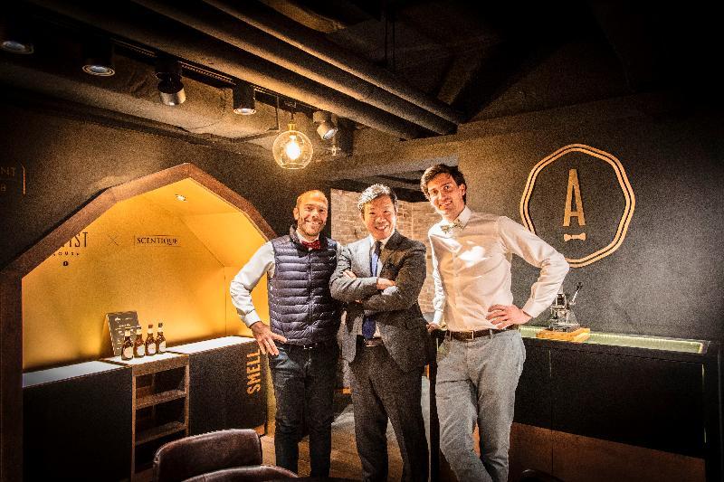 比利時手工啤酒公司The Artist今日(三月十五日)在香港開設首間The Artist House酒吧及咖啡店。圖為該公司共同創辦人Olivier Gilson(左)和Benjamin Cox(右)。