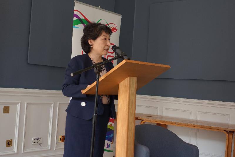 律政司司長鄭若驊資深大律師今日(倫敦時間六月十四日)在倫敦國王學院發表題為「香港在國際領域的機遇」的演說。