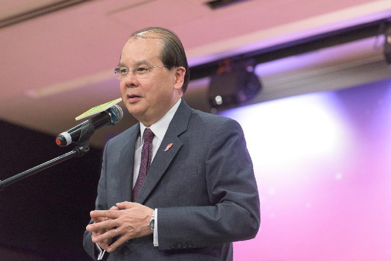 政務司司長張建宗今日(六月二十五日)在香港遊樂場協會2018香港傑出少年選舉頒獎典禮致辭。