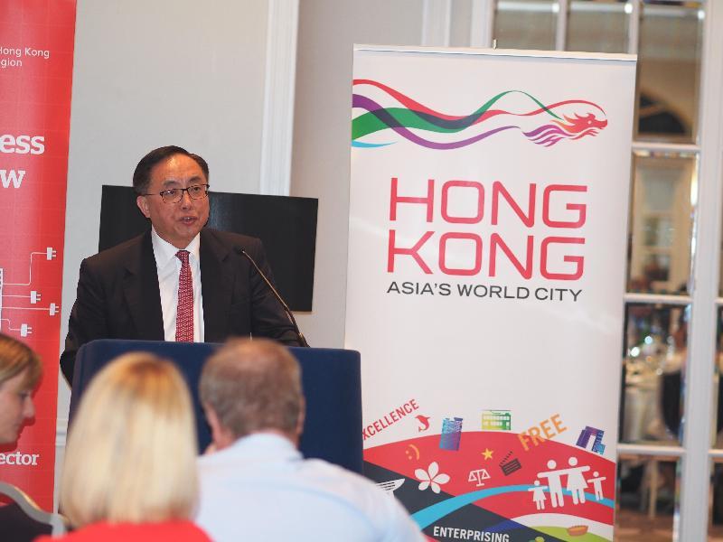 創新及科技局局長楊偉雄今日(倫敦時間六月二十六日)在倫敦出席香港駐倫敦經濟貿易辦事處和投資推廣署合辦的午餐會,向當地創新及科技界人士介紹特區政府為推動創科發展而推出的最新政策措施。