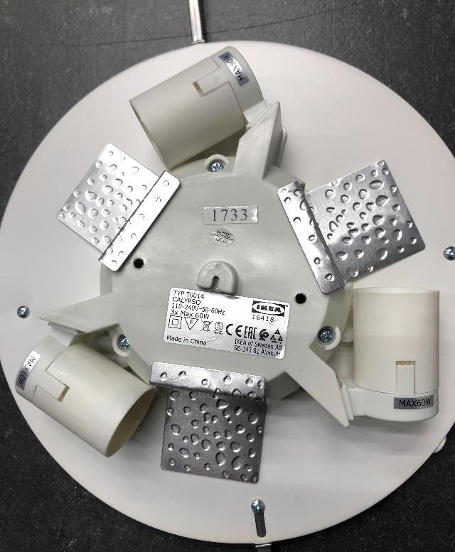 機電工程署今日(九月二十六日)呼籲市民停用宜家家居的CALYPSO天花燈(生產日期標籤1625至1744)。市民可移除天花燈的燈罩以識別CALYPSO天花燈的生產日期標籤。