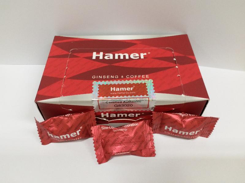 衞生署今日(十月五日)呼籲市民切勿購買或服用一款名為「Hamer Candy Ginseng & Coffee」的壯陽產品,因為該產品被發現含有未標示及受管制的成分。