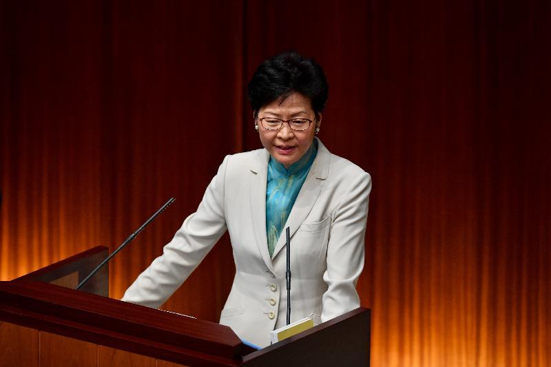 行政長官林鄭月娥今日(十月十一日)在立法會出席《行政長官2018年施政報告》答問會。