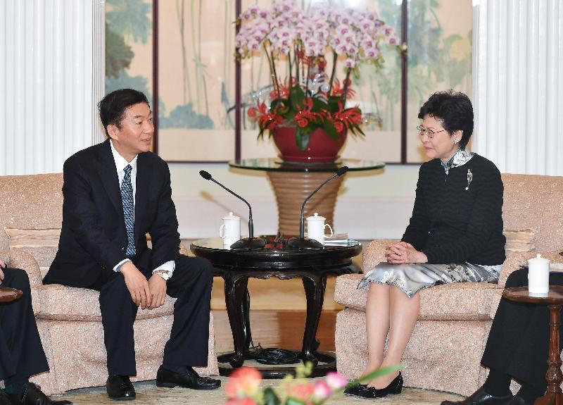 行政長官林鄭月娥今日(十二月三日)上午在禮賓府與山西省委書記駱惠寧會面。