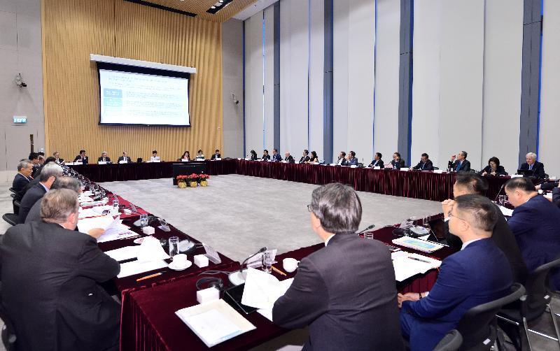 行政長官林鄭月娥今日(十二月四日)在政府總部主持行政長官創新及策略發展顧問團第四次會議。