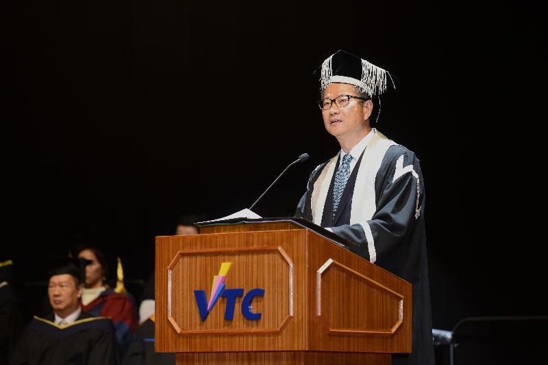 財政司司長陳茂波今日(十二月四日)下午在職業訓練局畢業典禮致辭。