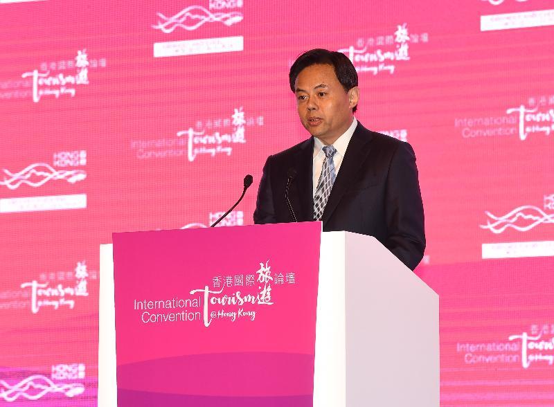 國家文化和旅遊部部領導于群今日(十二月十二日)出席由政府連同香港旅遊發展局及香港旅遊業議會舉辦的香港國際旅遊論壇,並在開幕環節上致辭。