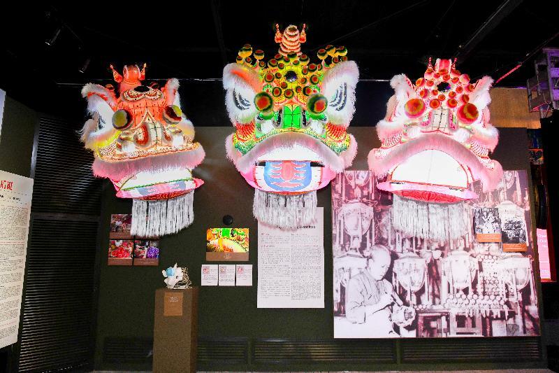 「2018國家非物質文化遺產展示保護基地系列活動『口傳心授:香港特別行政區非物質文化遺產』展示月」明日(十二月十六日)於北京國家文化和旅遊部恭王府博物館舉行。圖示展品獅頭花燈。