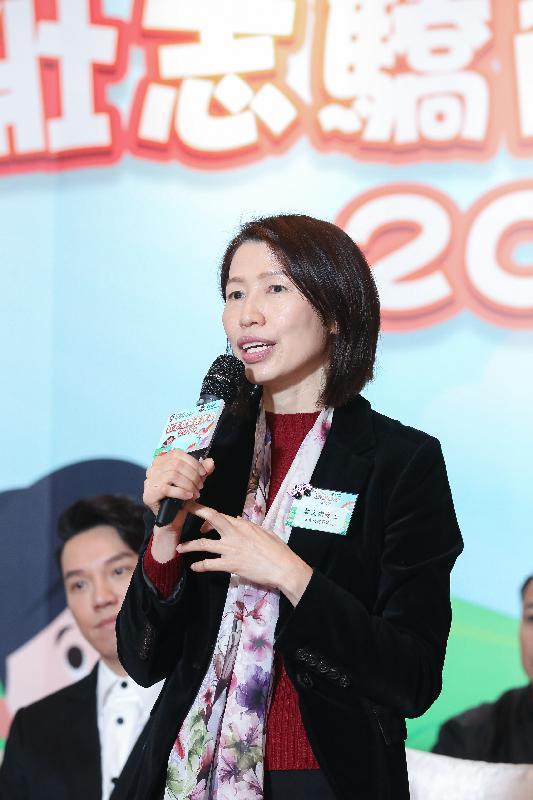 社會福利署署長葉文娟今日(一月十九日)在壯志驕陽嘉許禮2019致辭。
