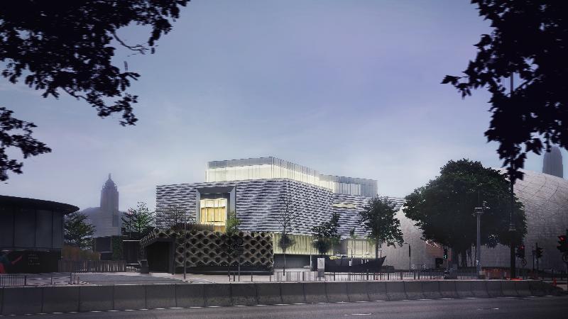 经过大型扩建和修缮工程,香港艺术馆今年十一月以全新面貌开放予公众参观。图示翻新后的香港艺术馆外貌。